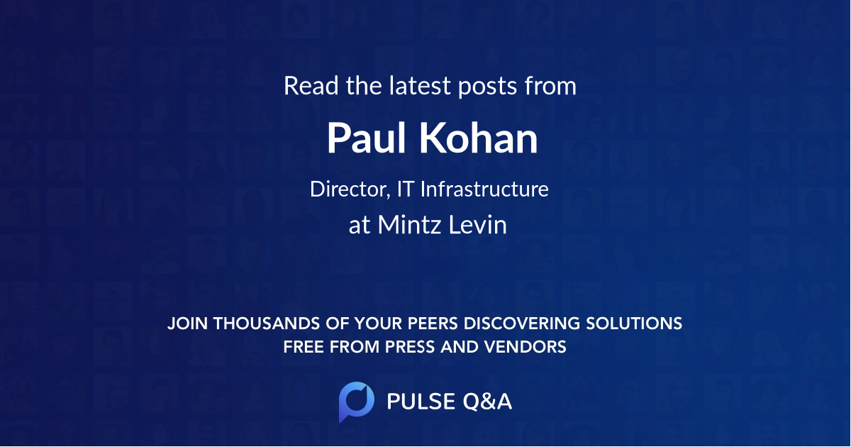 Paul Kohan
