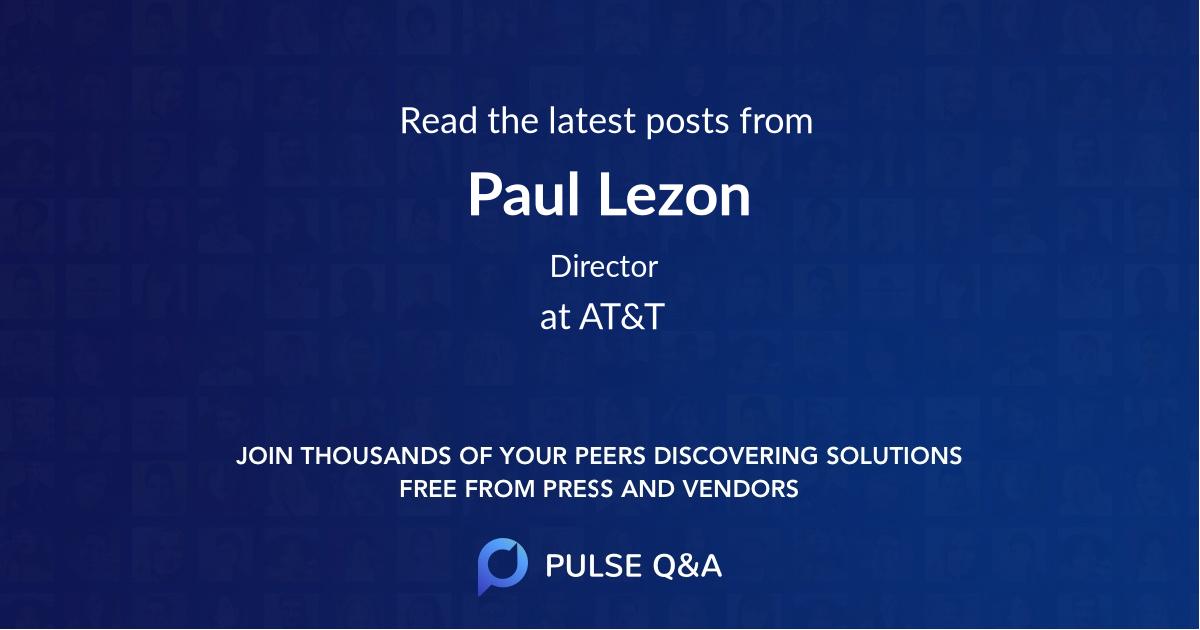 Paul Lezon