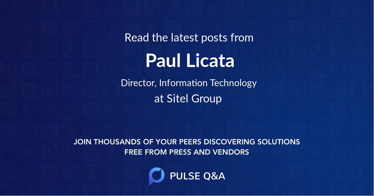 Paul Licata