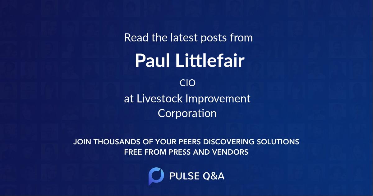 Paul Littlefair