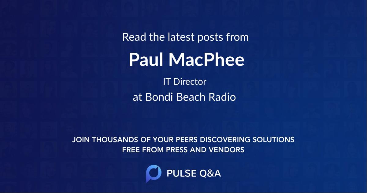 Paul MacPhee