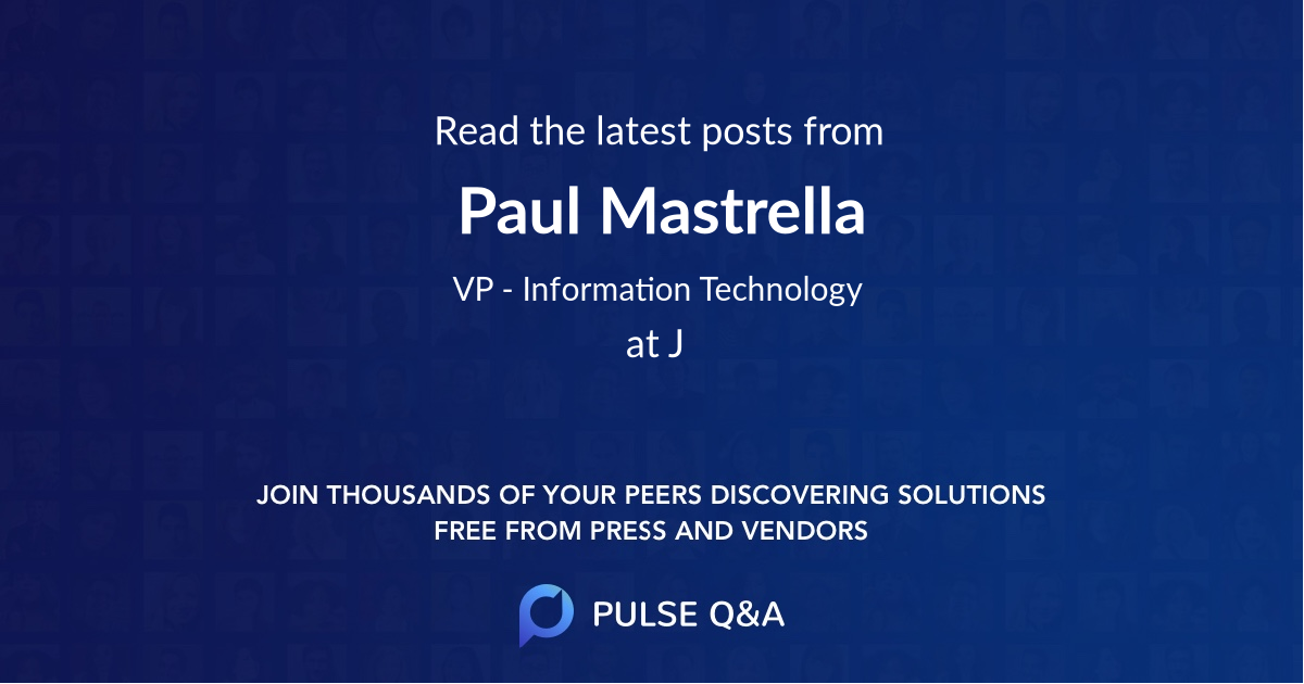 Paul Mastrella