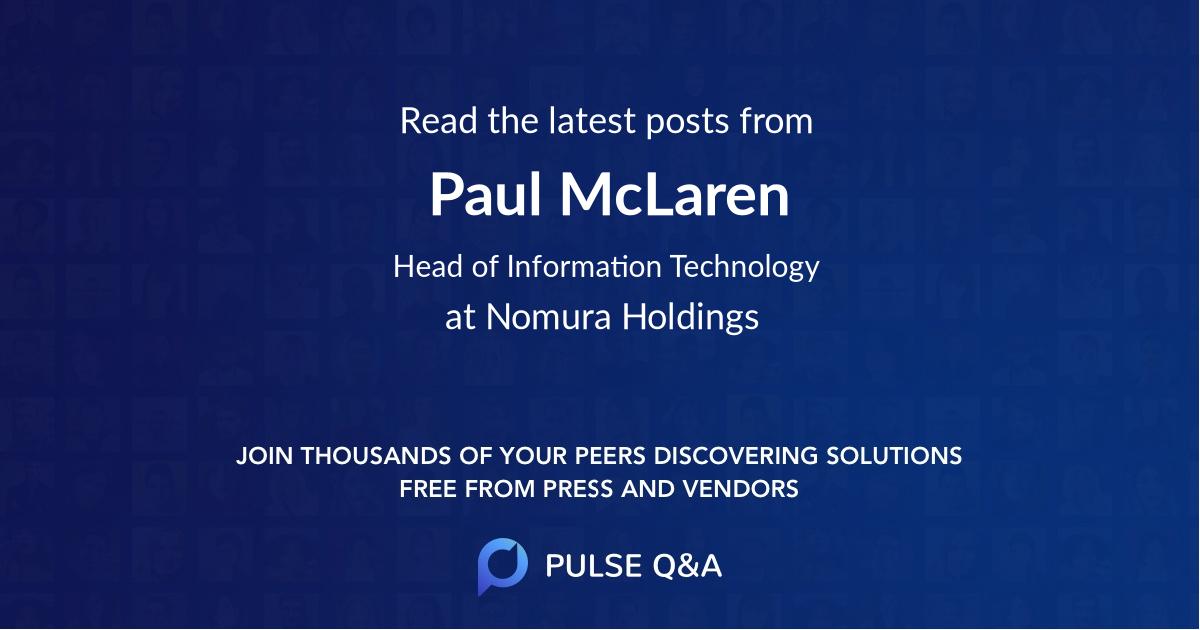Paul McLaren