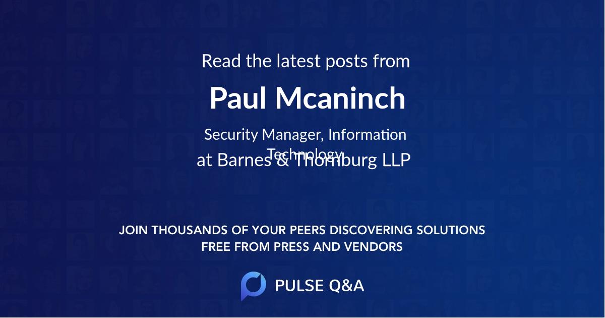 Paul Mcaninch