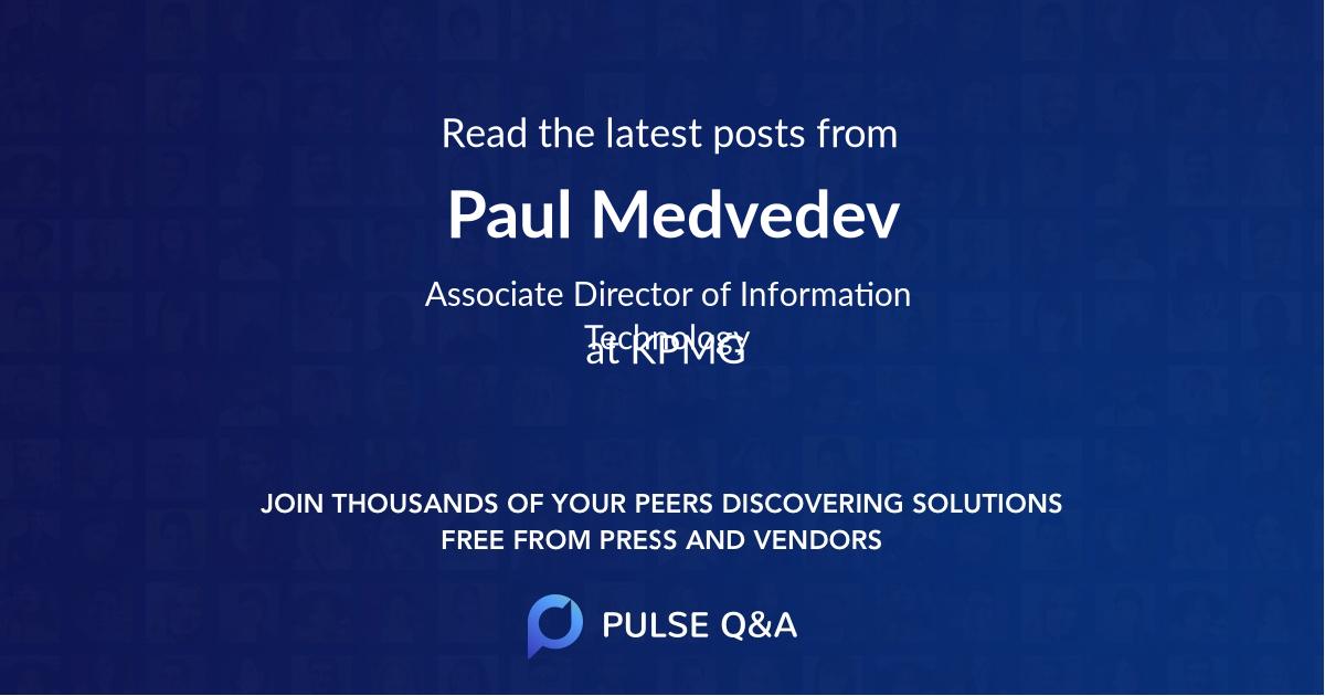 Paul Medvedev