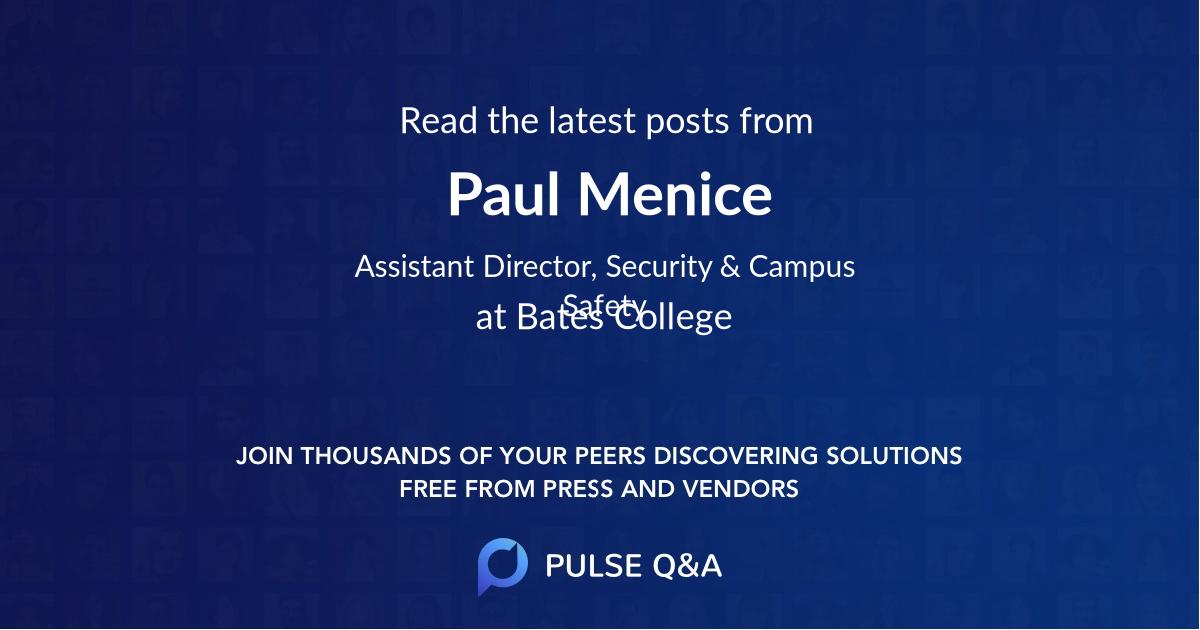 Paul Menice