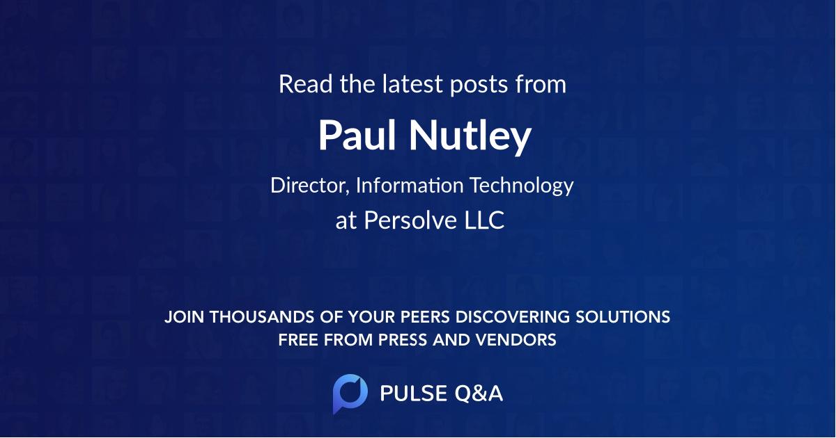 Paul Nutley