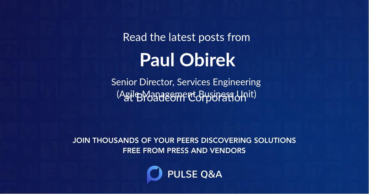 Paul Obirek