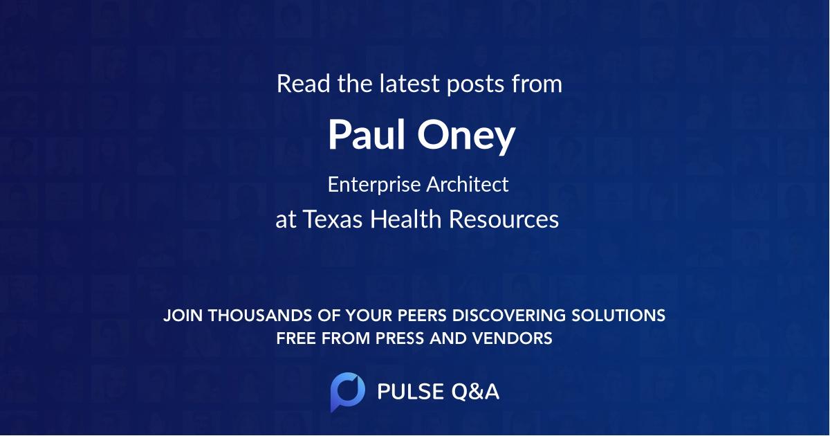 Paul Oney