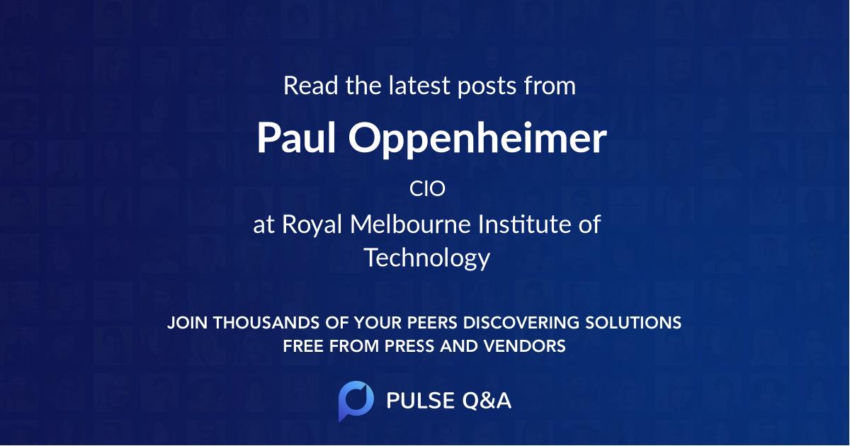 Paul Oppenheimer