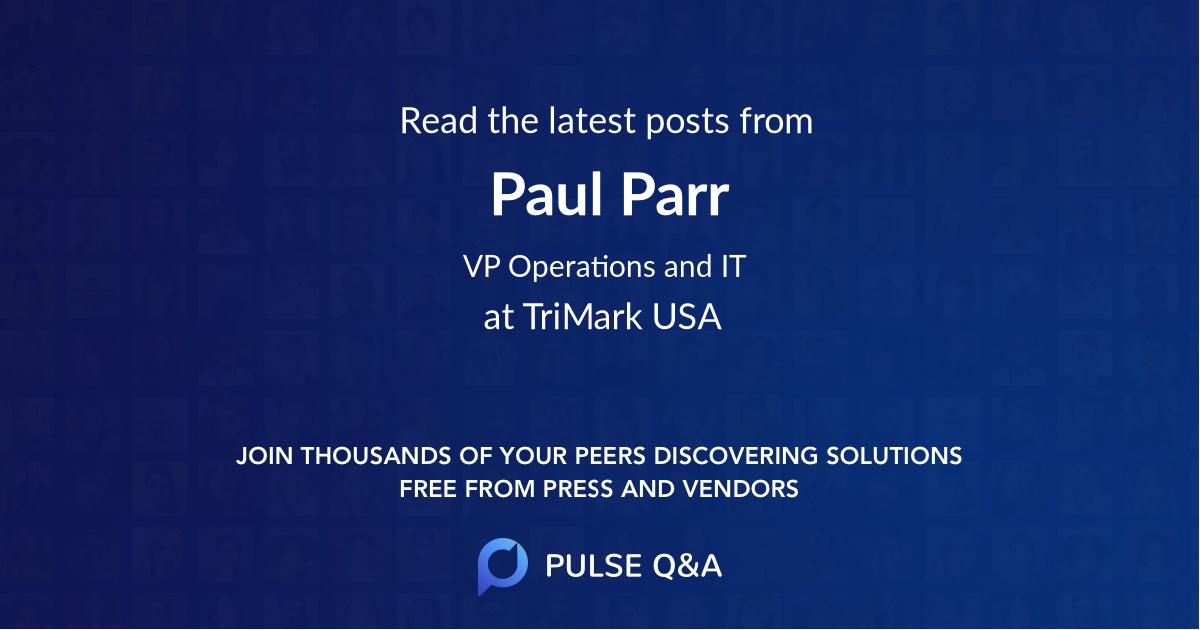 Paul Parr