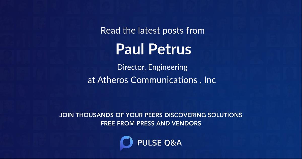 Paul Petrus
