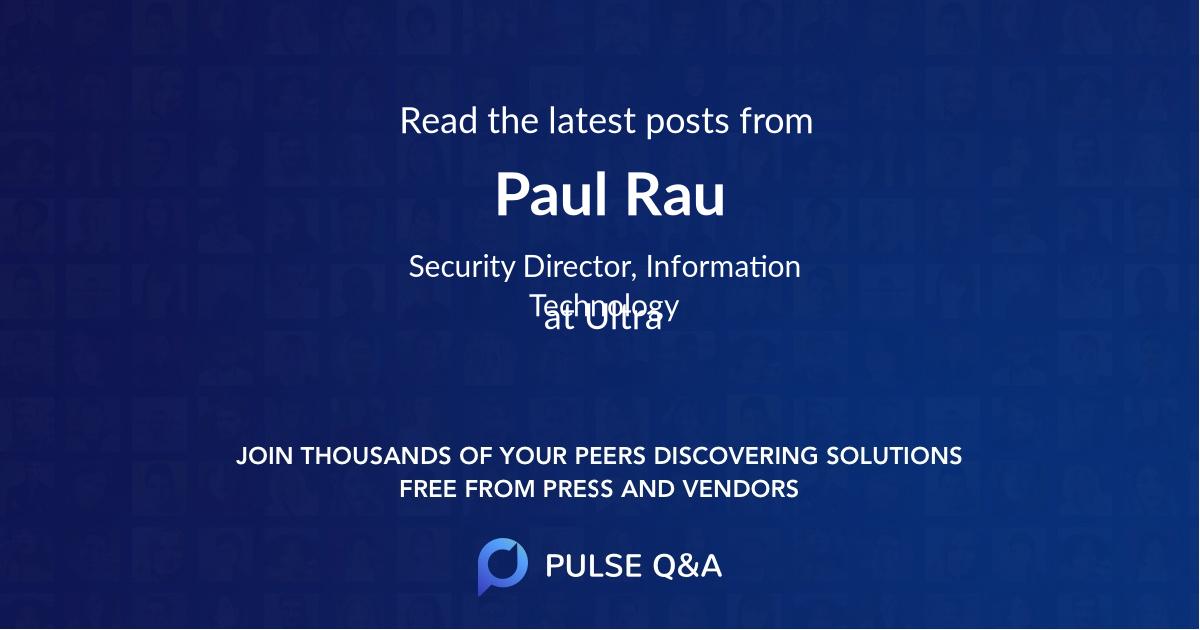 Paul Rau