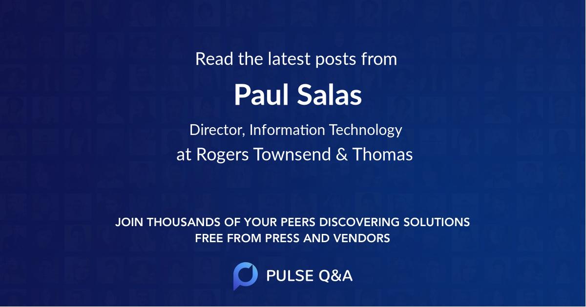 Paul Salas