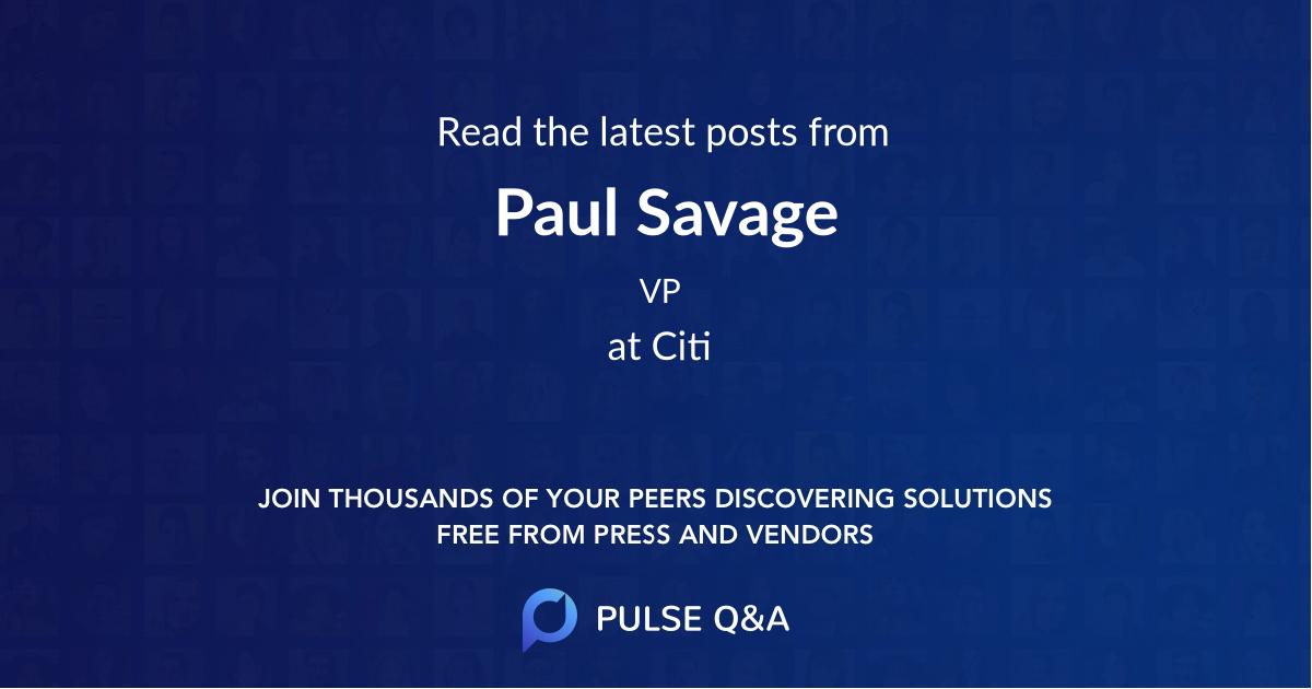 Paul Savage