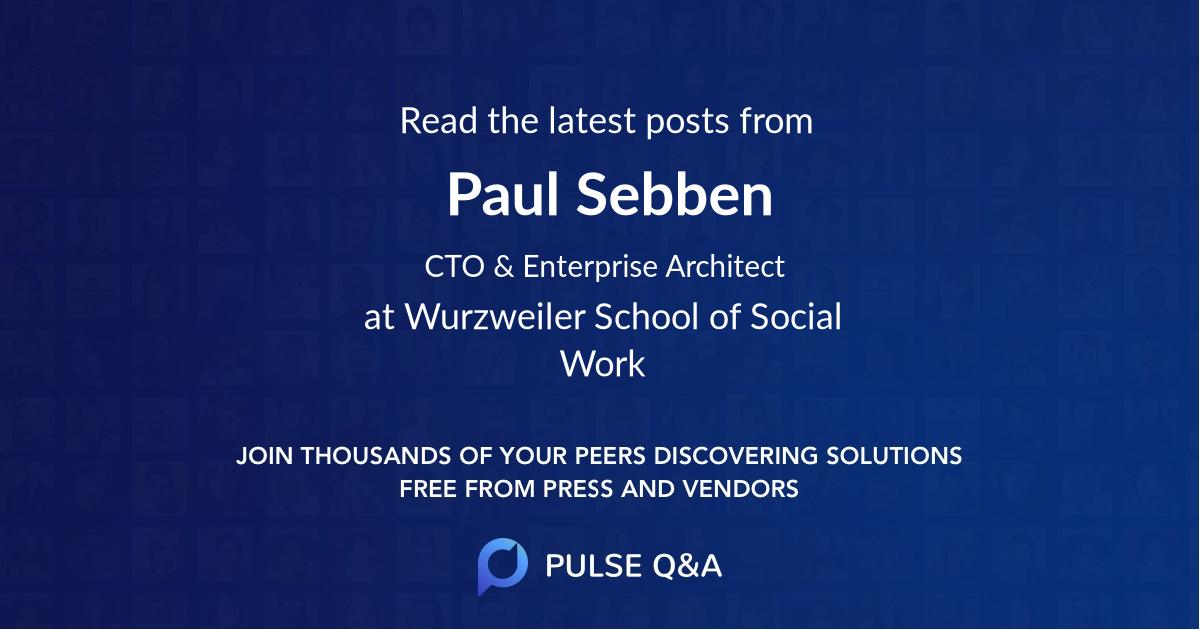 Paul Sebben