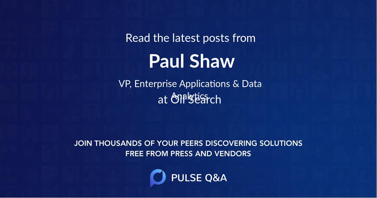 Paul Shaw