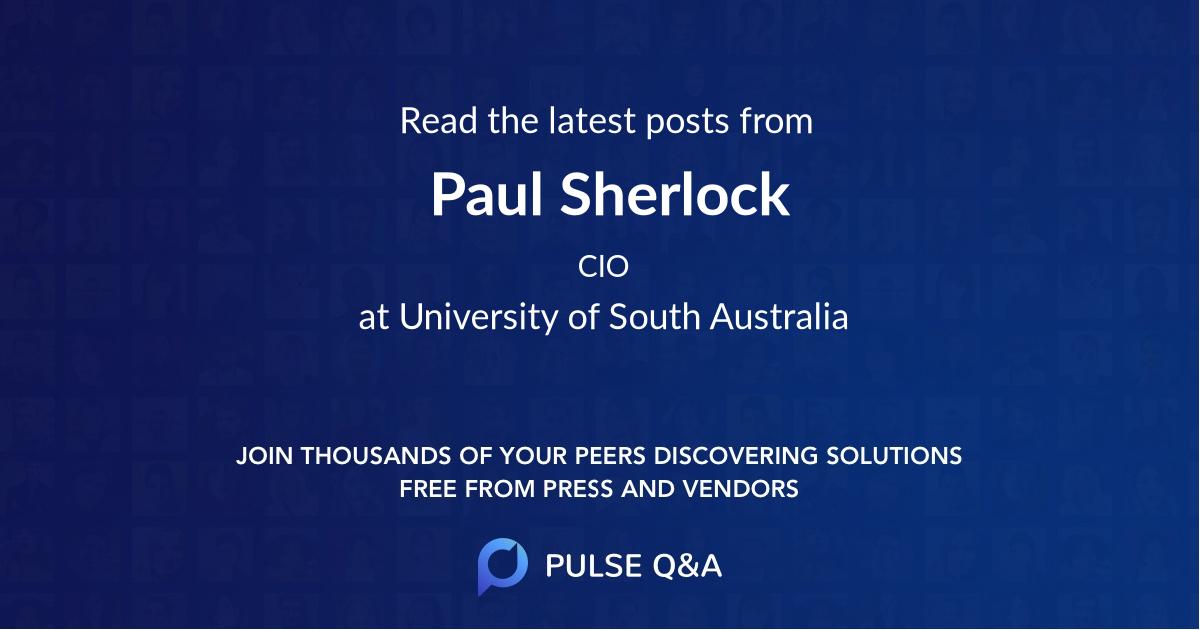 Paul Sherlock