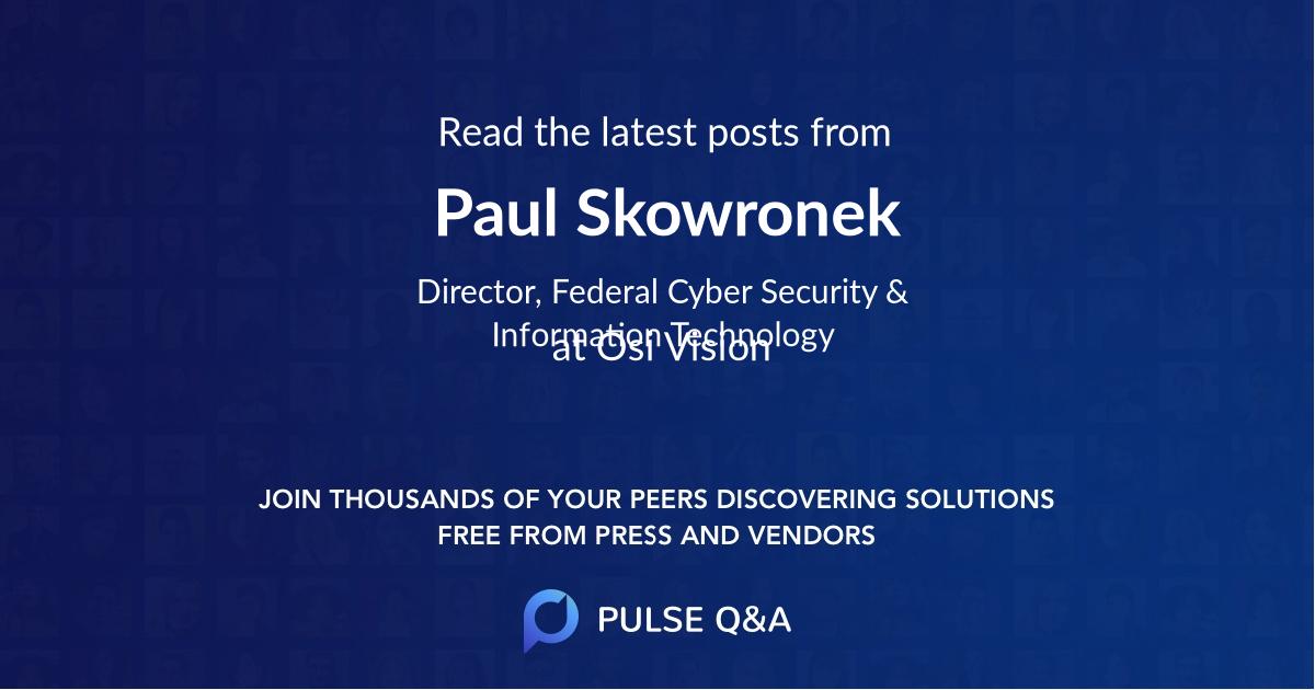 Paul Skowronek