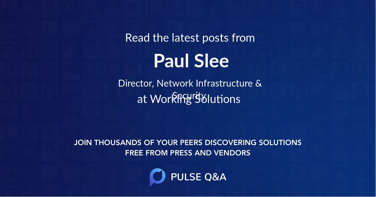 Paul Slee