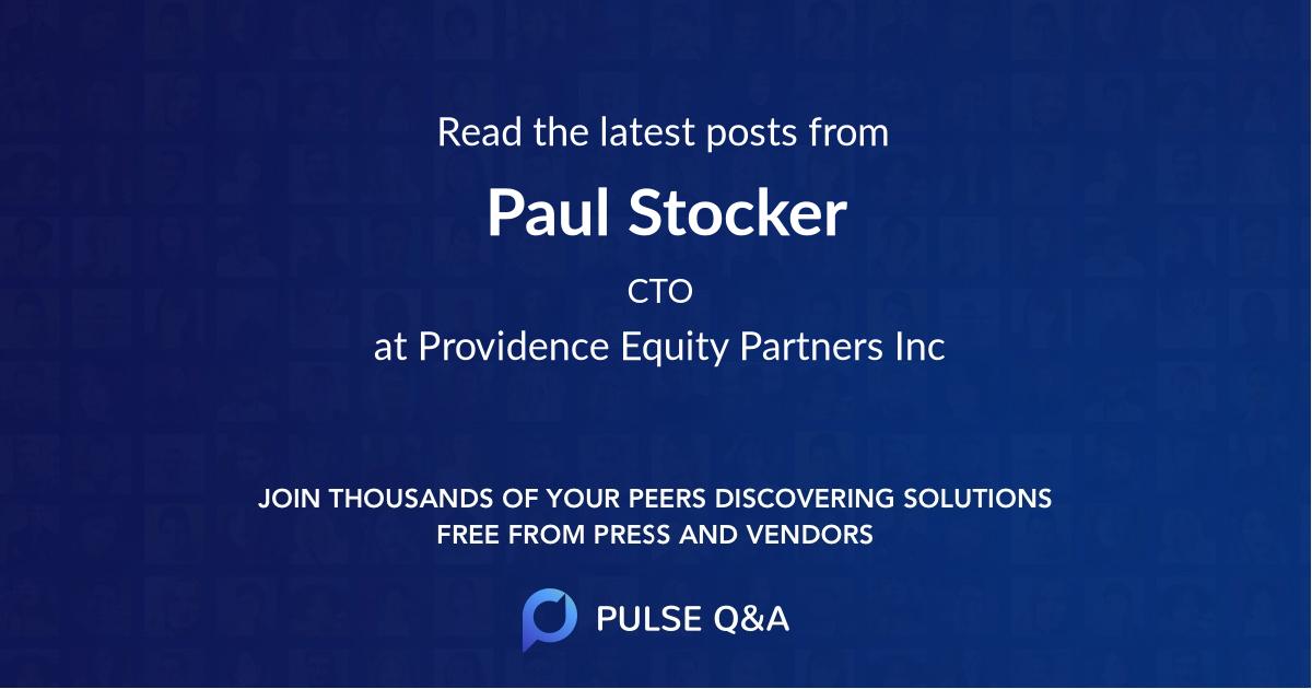 Paul Stocker