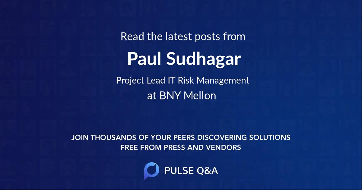 Paul Sudhagar