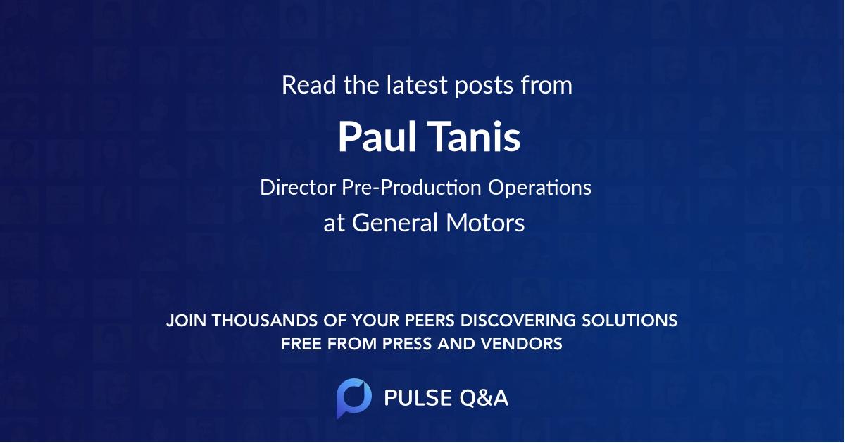 Paul Tanis