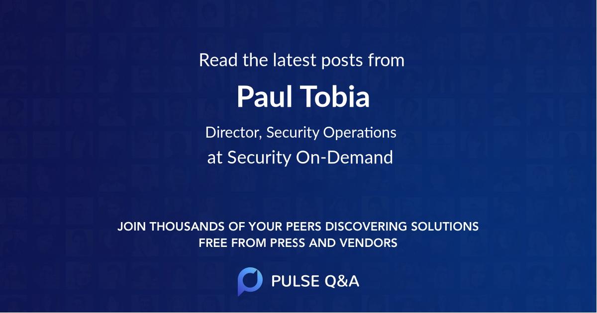 Paul Tobia