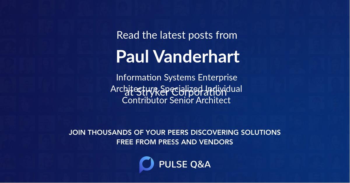 Paul Vanderhart