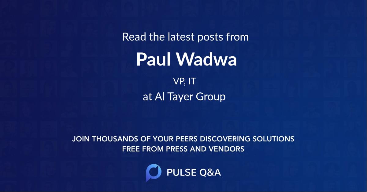 Paul Wadwa
