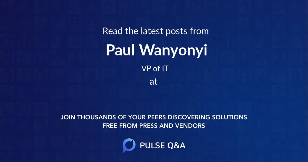 Paul Wanyonyi