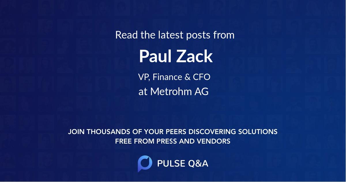Paul Zack