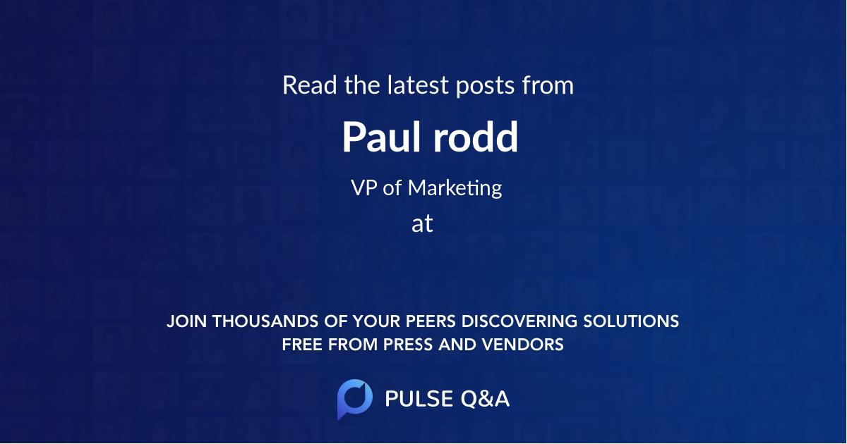 Paul rodd