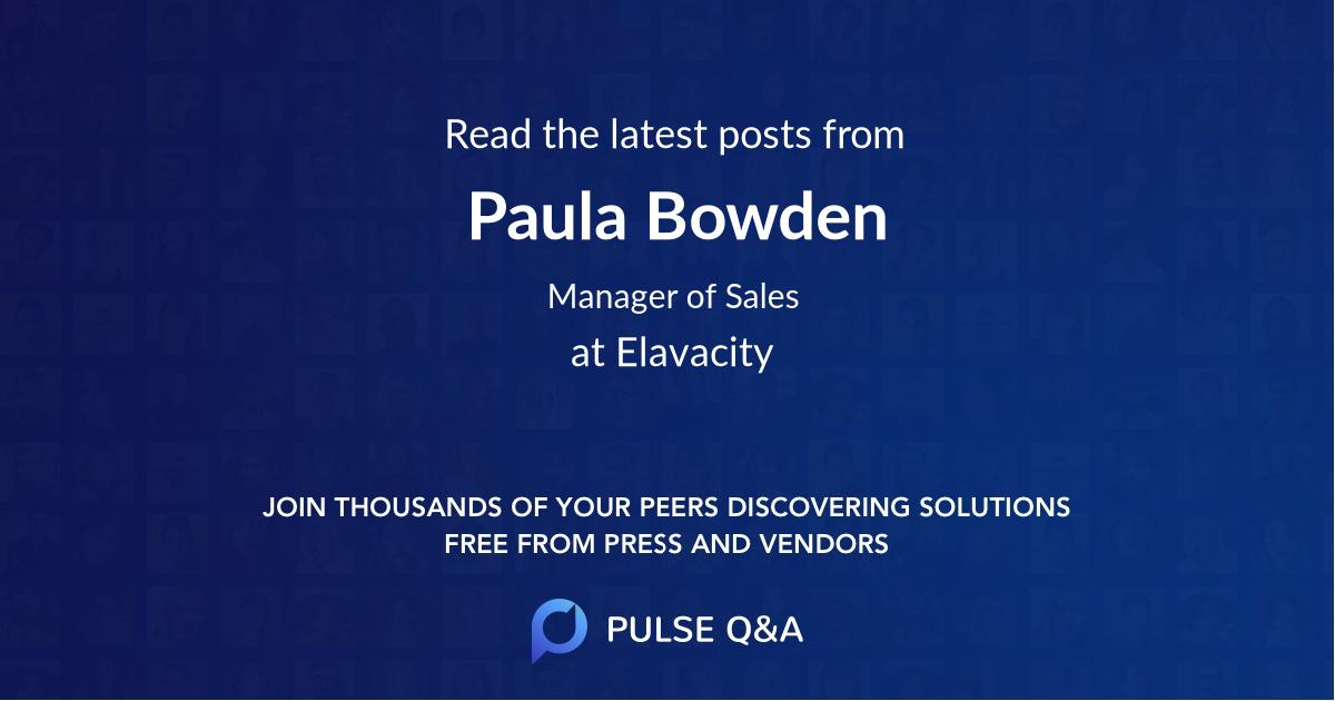 Paula Bowden