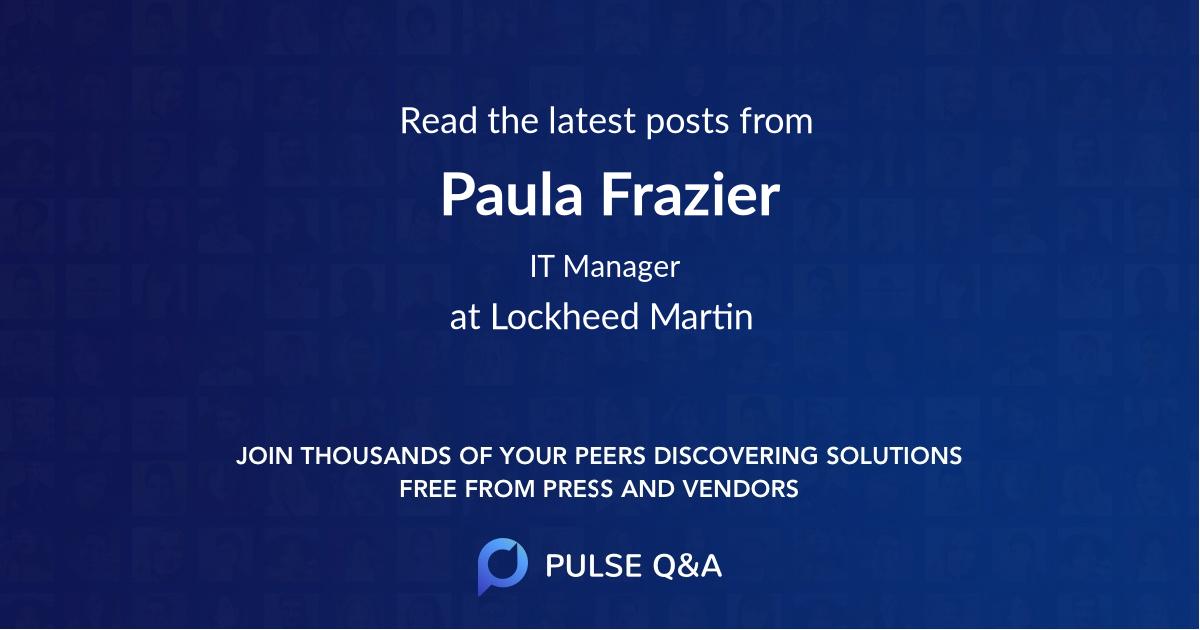 Paula Frazier