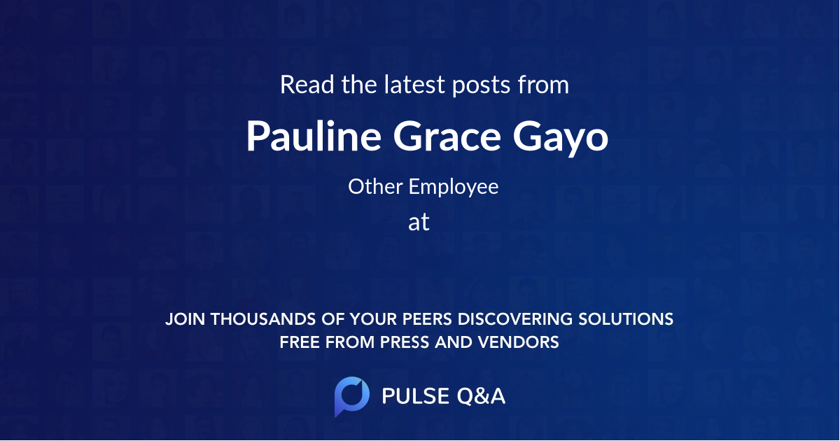 Pauline Grace Gayo