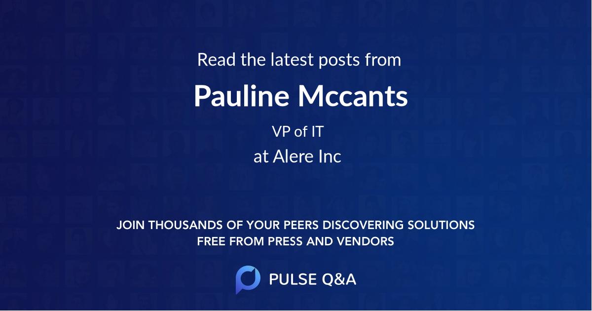 Pauline Mccants