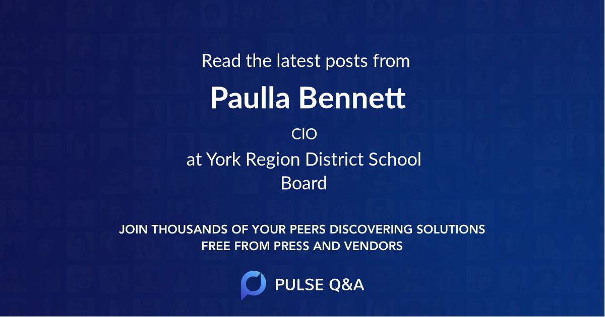 Paulla Bennett