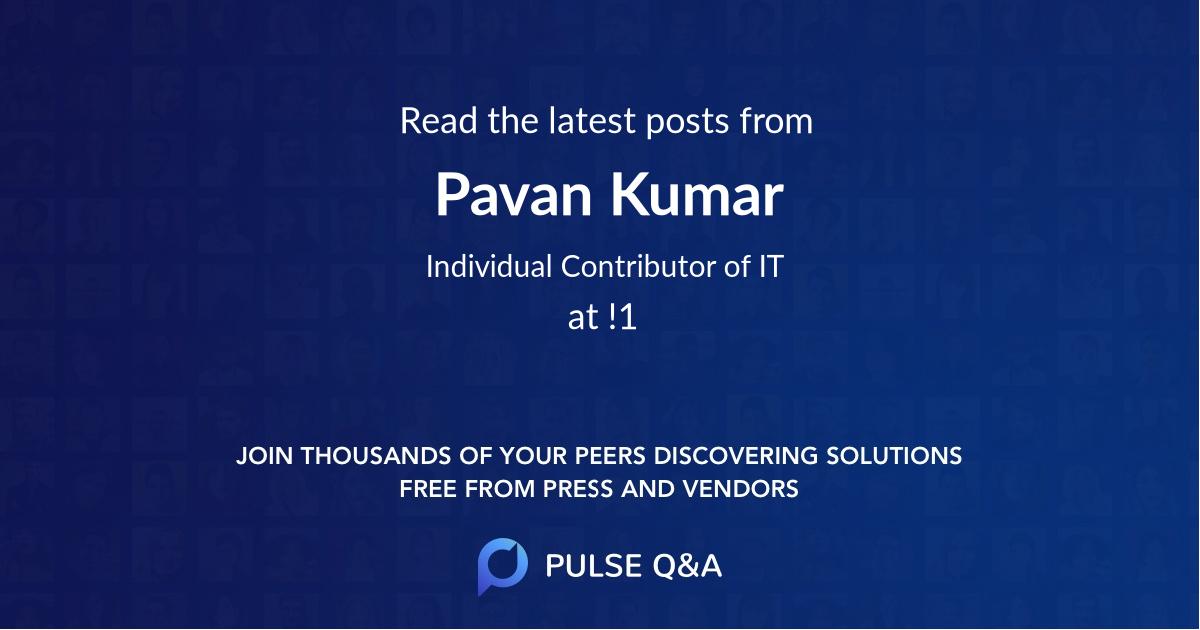 Pavan Kumar