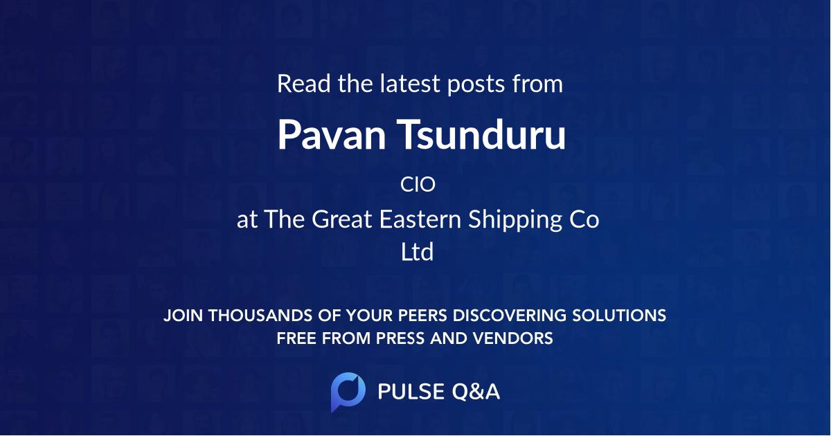 Pavan Tsunduru