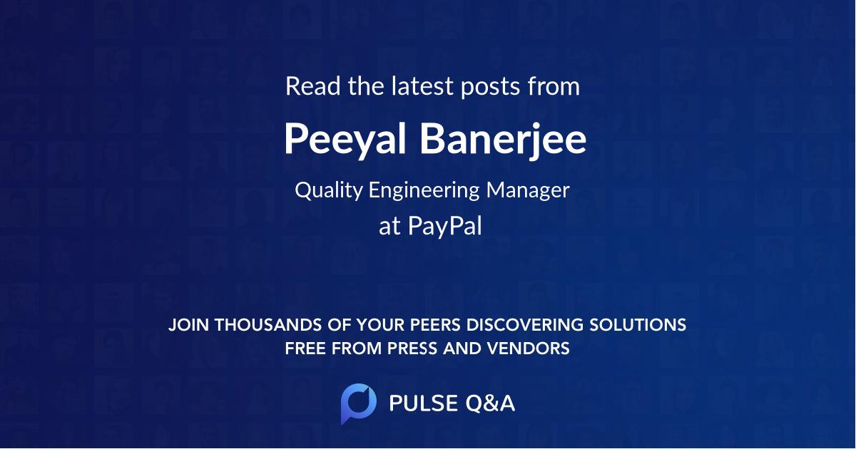 Peeyal Banerjee