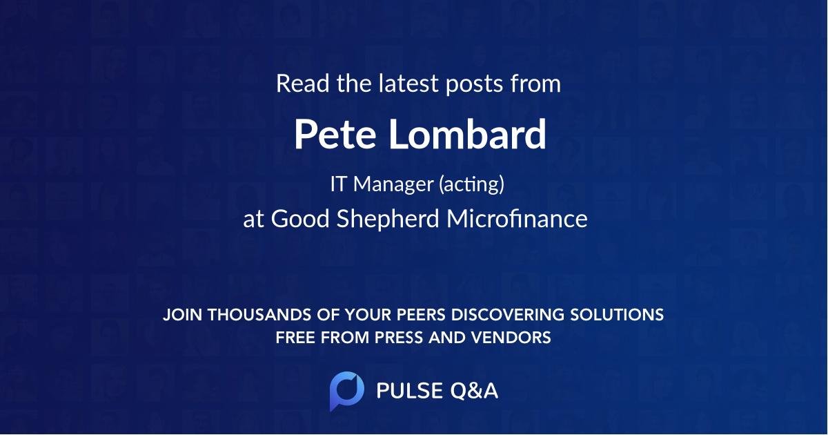 Pete Lombard