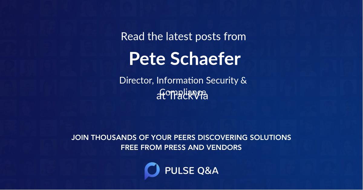 Pete Schaefer
