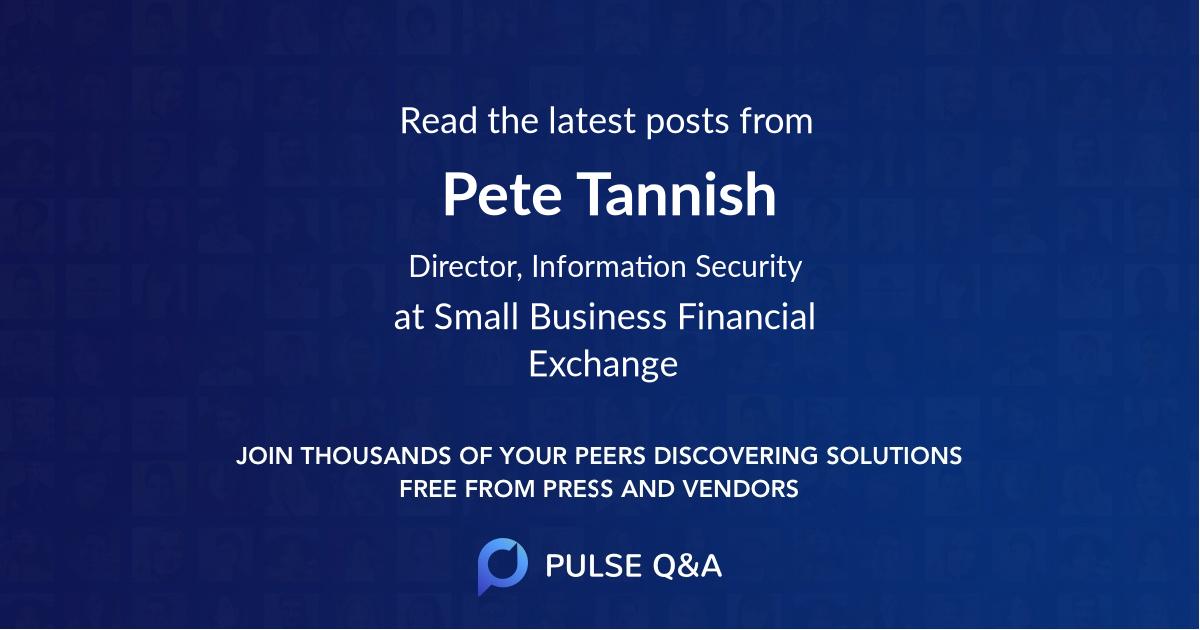 Pete Tannish