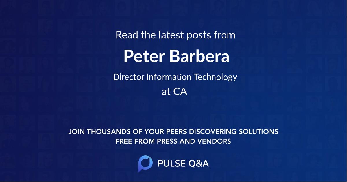 Peter Barbera