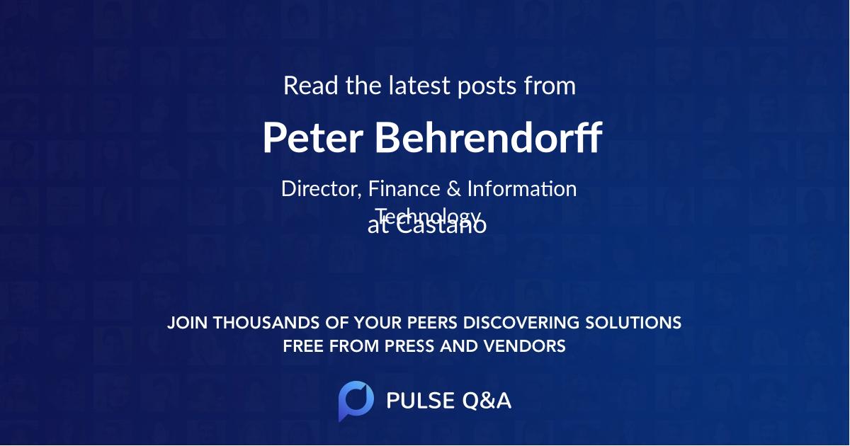 Peter Behrendorff