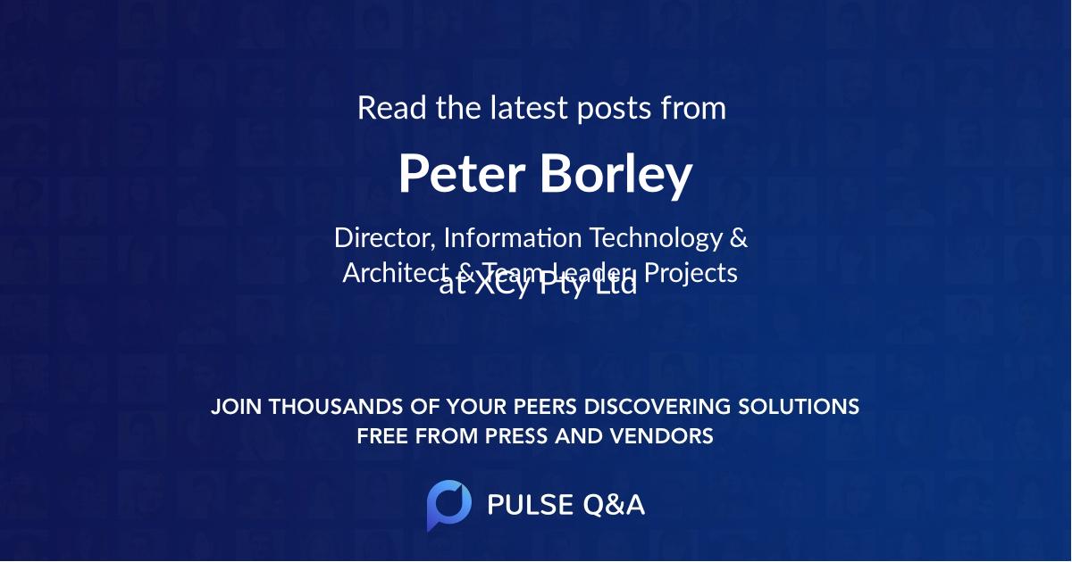 Peter Borley