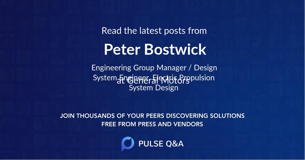 Peter Bostwick
