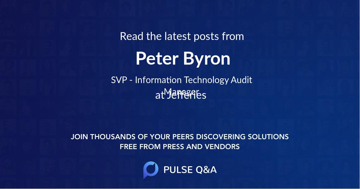 Peter Byron