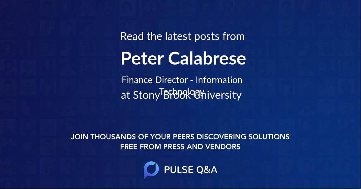 Peter Calabrese
